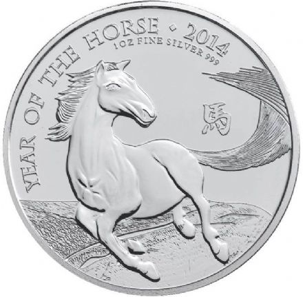 2014 Royal Mint 1oz Silver Year of the Horse Coin